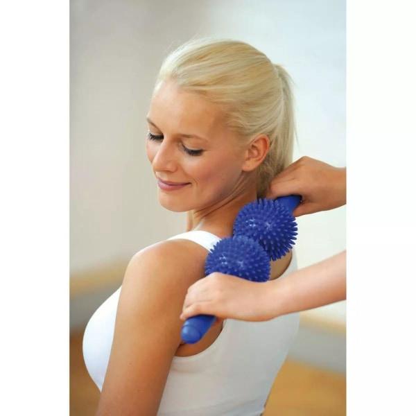 Sissel Taggig dubbel massagerulle blå SIS-162.052 Blå