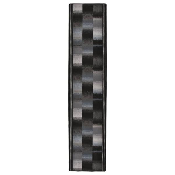 vidaXL Halkfri gångmatta svart 67x400 cm Blå