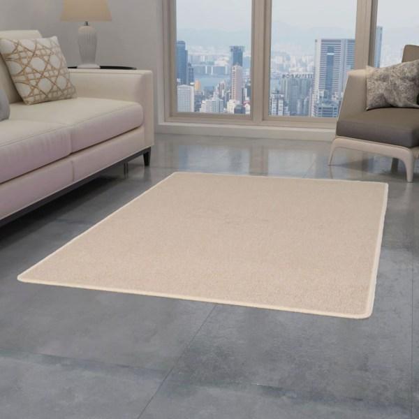 vidaXL Tuftad matta 120x180 cm beige Beige