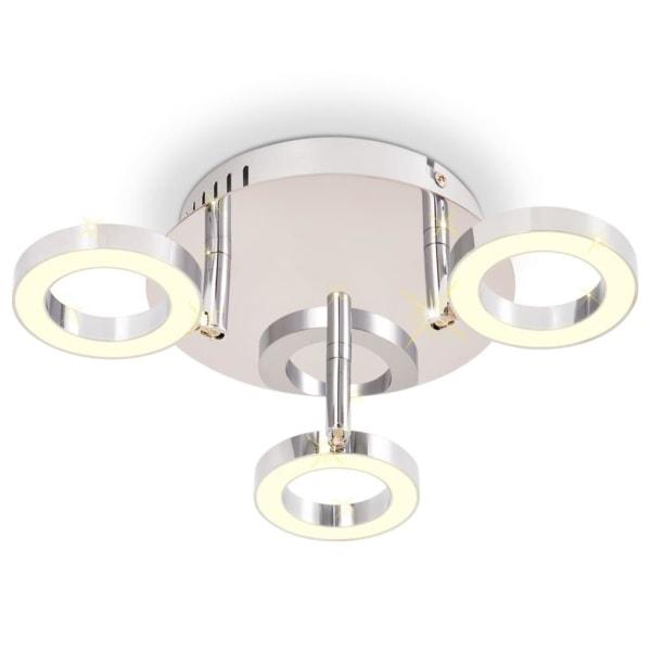 vidaXL LED Taklampa med 3 lampor varmvit Silver