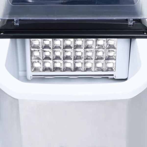 vidaXL Ismaskin rostfritt stål 20 kg/dygn Silver