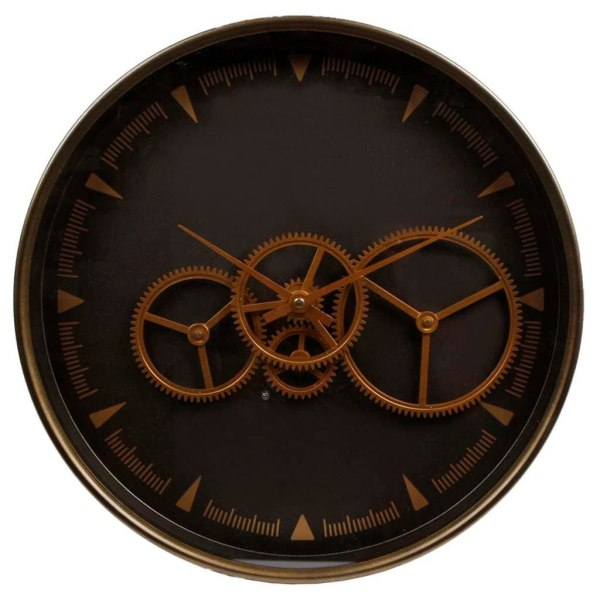 Gifts Amsterdam Väggklocka Radar Paul guld och brun 36cm Brun