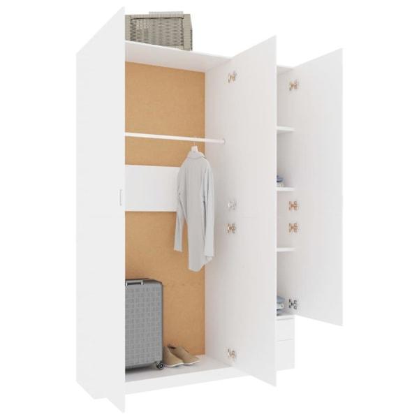 vidaXL Garderob 3 dörrar vit 120x50x180 cm spånskiva Vit