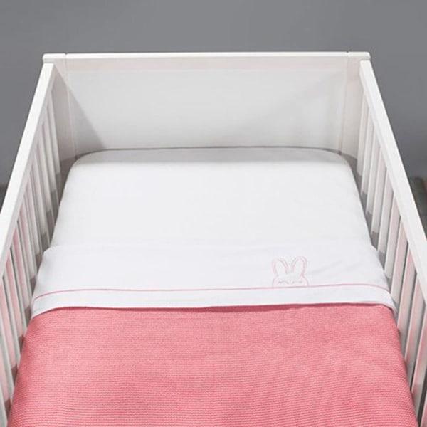 Jollein Filt stickad 75x100 cm rosa 516-511-65106 Rosa