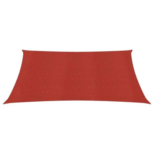 vidaXL Solsegel 160 g/m² röd 6x6 m HDPE Röd