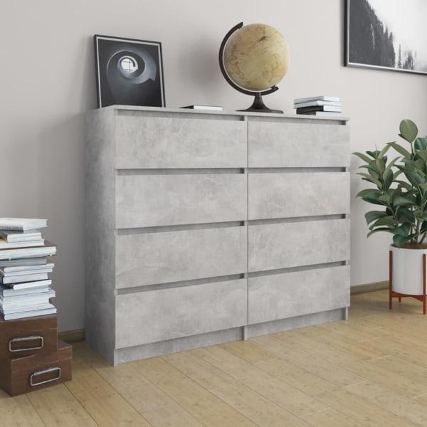 vidaXL Byrå betonggrå 120x35x99 cm spånskiva Grå