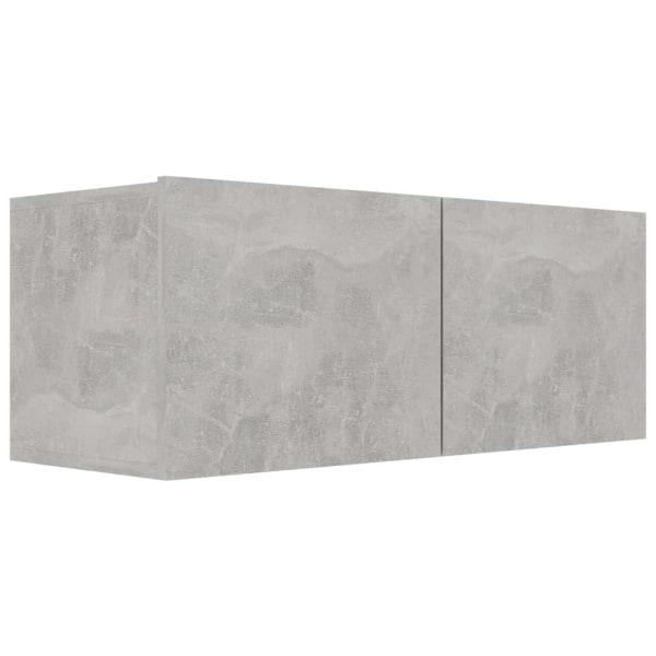 vidaXL TV-bänk betonggrå 80x30x30 cm spånskiva Grå