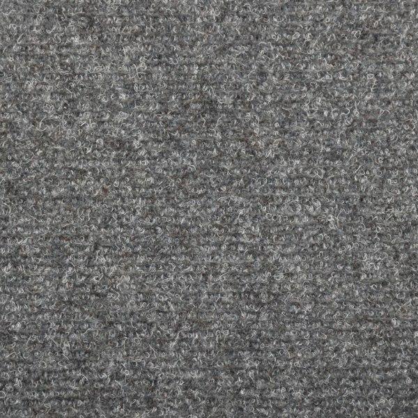 vidaXL Trappstegsmattor 15 st nålad 65x25 cm ljusgrå Grå