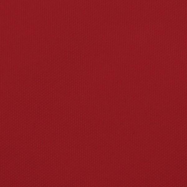 vidaXL Solsegel oxfordtyg trapets 4/5x4 m röd Röd