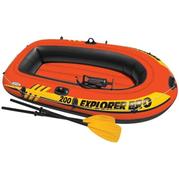 Intex Uppblåsbar båt Pro 200 med åror och pump 58357NP Vit