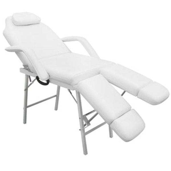 vidaXL Bärbar behandlingsstol konstläder 185x78x76 cm vit Vit
