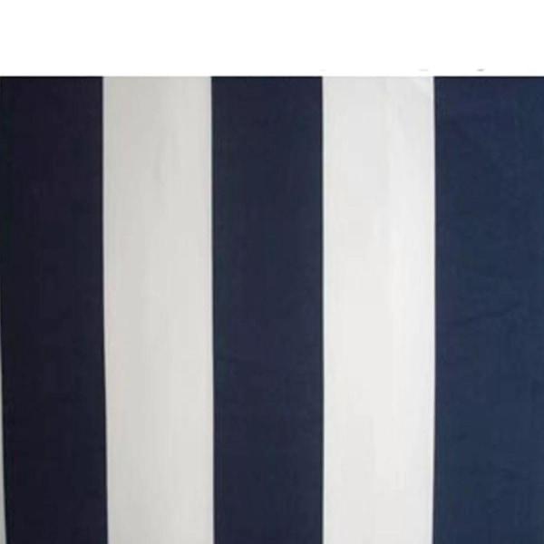 vidaXL Markis infällbar marinblå & vit 300 cm Blå
