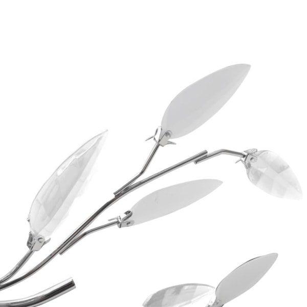 vidaXL Taklampa 5-armad E14 med kristallöv vit/transparent Vit