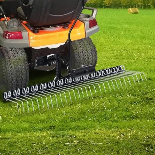 vidaXL Mossrivare för åkgräsklippare 120 cm Svart