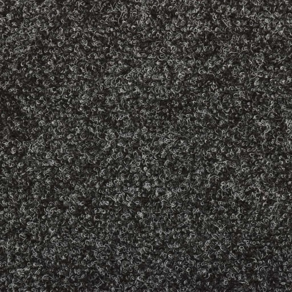 vidaXL Trappstegsmattor 15 st nålad 65x25 cm grå Grå