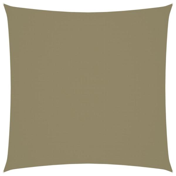 vidaXL Solsegel oxfordtyg fyrkantigt 4x4 m beige Beige
