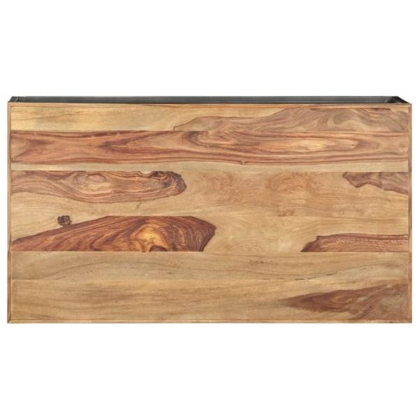 vidaXL Soffbord brun och grå 110x60x38 cm massivt sheshamträ Brun