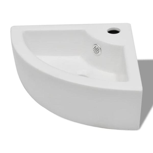 vidaXL Handfat med bräddavlopp 45x32x12,5 cm vit Vit