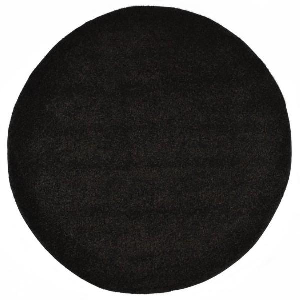 vidaXL Shaggy-matta 160 cm svart Svart