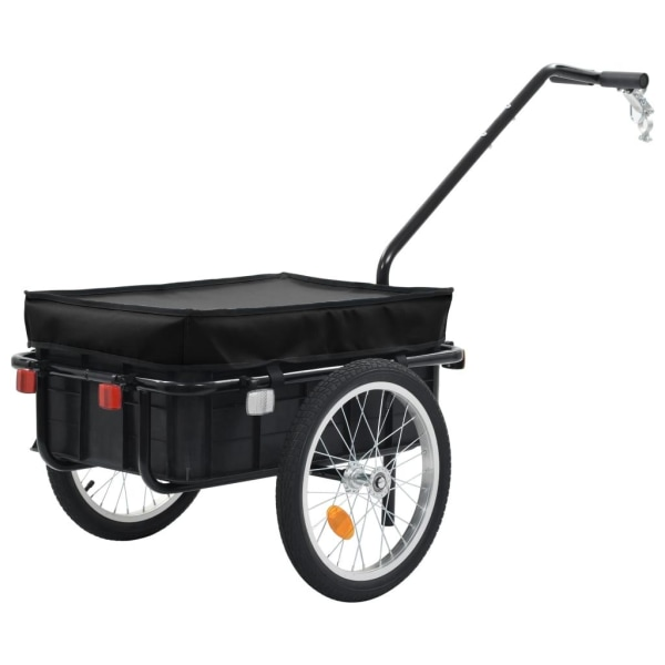 vidaXL Cykelvagn/handkärra 155x61x83 cm stål svart Svart