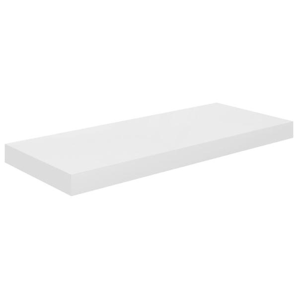 vidaXL Svävande vägghylla vit högglans 60x23,5x3,8 cm MDF Vit