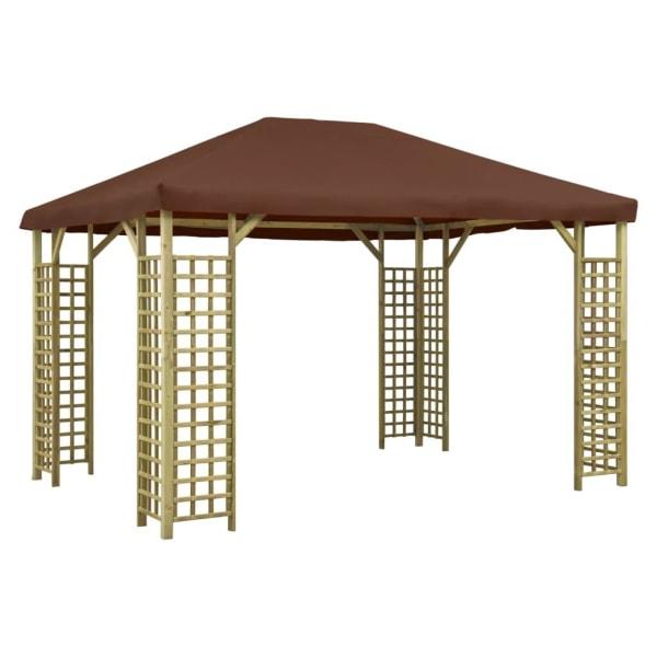 vidaXL Paviljong 4x3 m brun Brun