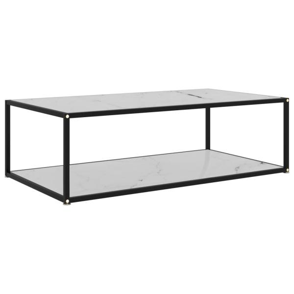 vidaXL Soffbord vit 120x60x35 cm härdat glas Vit