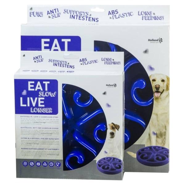 EAT SLOW LIVE LONGER Aktiveringsmatskål Original blå S Blå