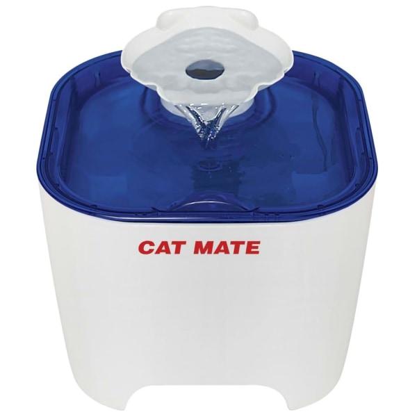 Kerbl Djurfontän Cat Mate 19x19x14,5 cm vit och blå Flerfärgsdesign