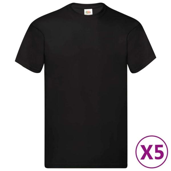 Fruit of the Loom Original T-shirt 10-pack stl. XXL bomull Vit