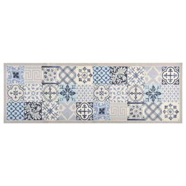 vidaXL Köksmatta maskintvättbar mosaik 45x150 cm Flerfärgsdesign