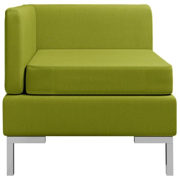vidaXL Hörnsits till modulsoffa med dyna tyg grön Grön