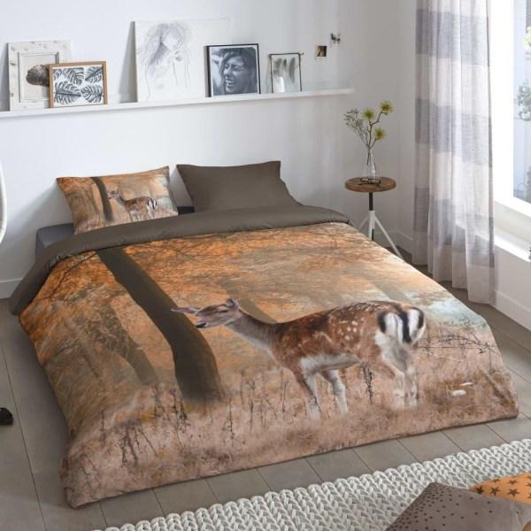 Good Morning Bäddset GAVIN 155x220 cm brun Brun