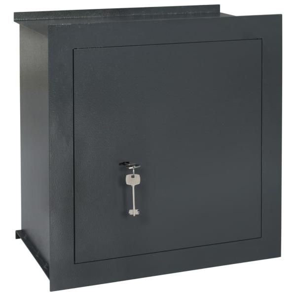 vidaXL Väggkassaskåp mörkgrå 42x24x42,6 cm Grå