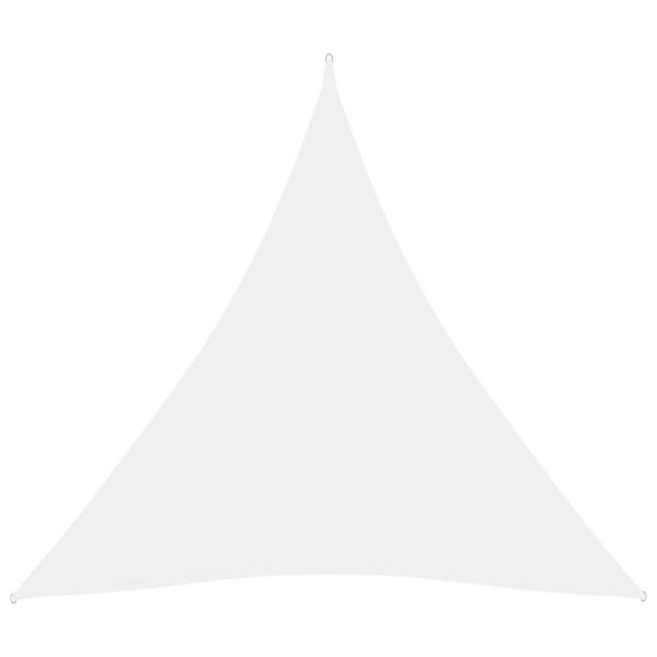 vidaXL Solsegel Oxfordtyg trekantigt 4,5x4,5x4,5 m vit Vit