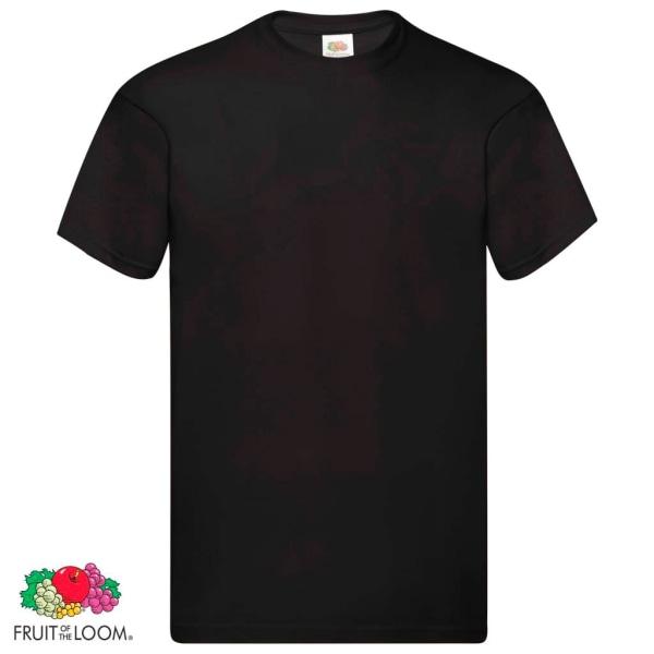 Fruit of the Loom Original T-shirt 5-pack svart stl. M bomull Svart