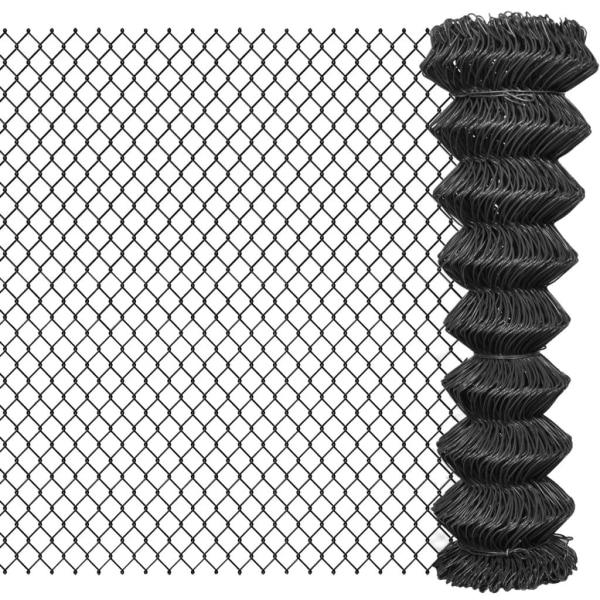 vidaXL Flätverksstängsel stål 15x1,5 m grå Grå