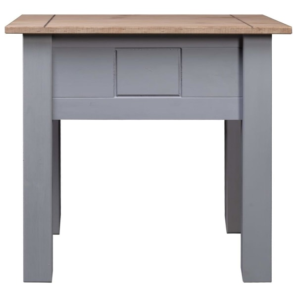 vidaXL Sängbord grå 50,5x50,5x52,5 cm furu panama Grå
