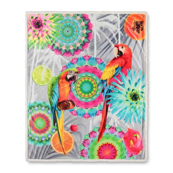 HIP Pläd KJENTA 130x160 cm flerfärgad Flerfärgsdesign