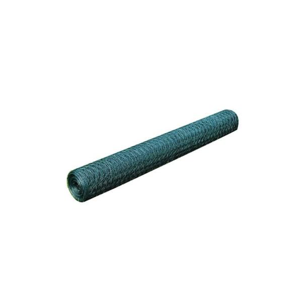 vidaXL Hönsnät galvaniserat med PVC-beläggning 25x0,75 m grön Grön
