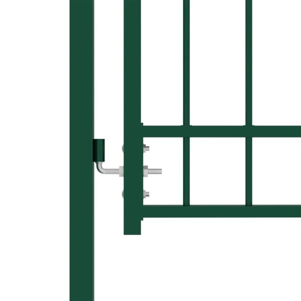 vidaXL Trädgårdsgrind med spjut stål 100x150 cm grön Grön