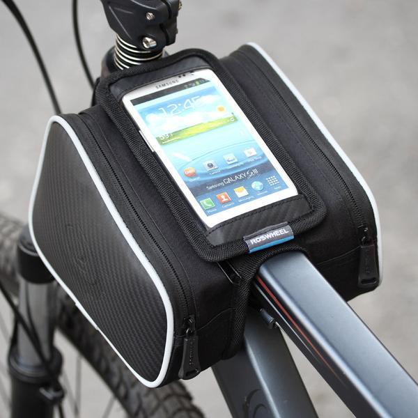 Cykelväska Roswheel ramväska mobilväska (Svart)