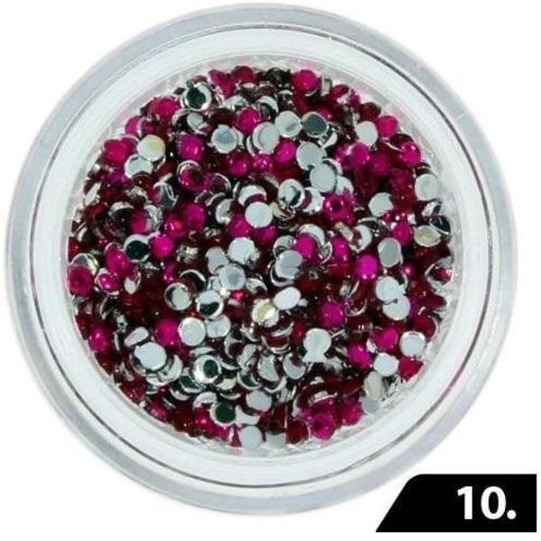 Zirkon stenar (Glas) - 1,5 mm - 200 st - 10 Lila