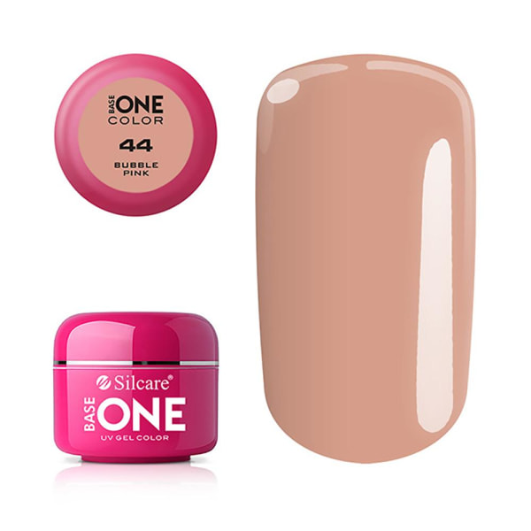 Base one - Color - UV Gel - Bubble Pink - 44 - 5 gram Beige