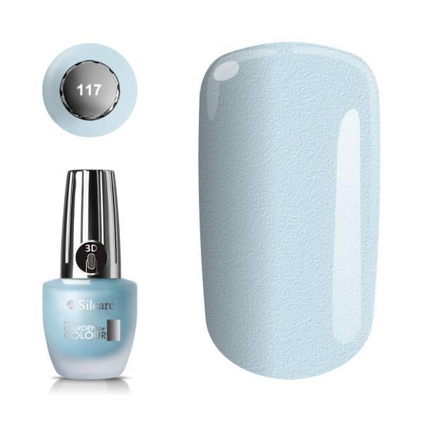 Silcare - Garden of Colour - Nagellack - Sand - 117 - 15 ml Ljusblå