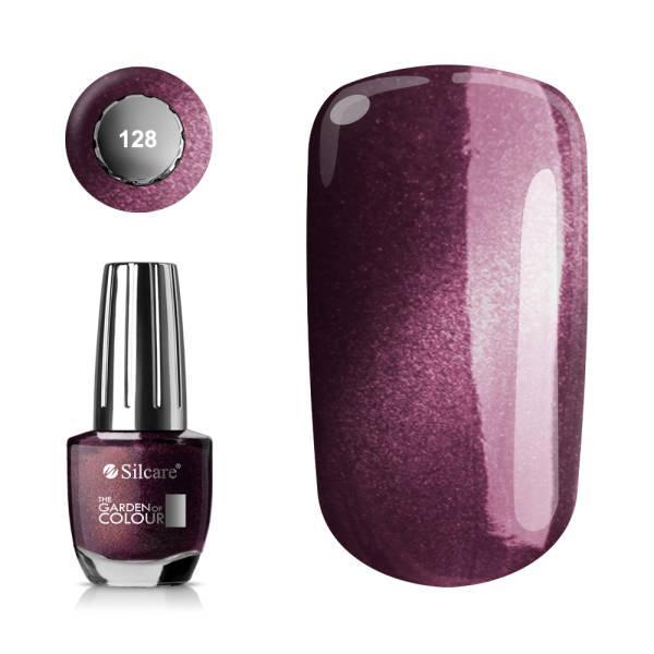 Silcare - Garden of Colour - Nagellack - Sparkling - 128 - 15 ml Vin, röd