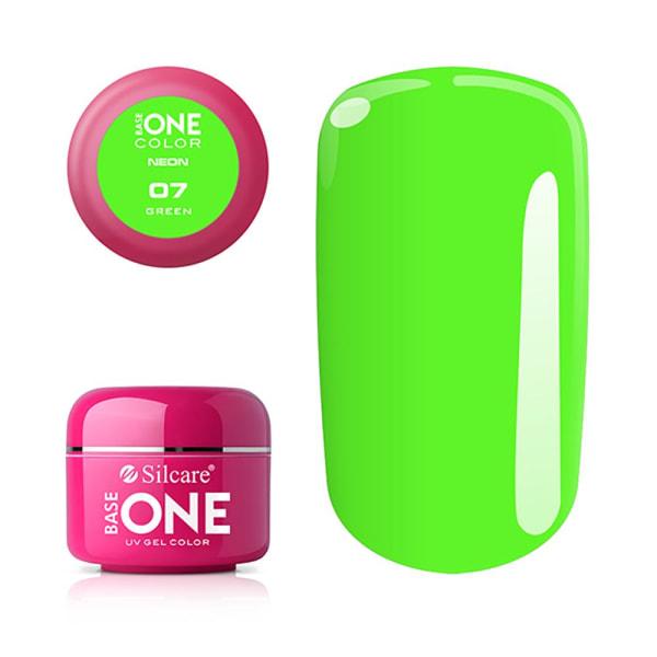 Base one - UV Gel - Neon - Green - 07 - 5 gram Grön