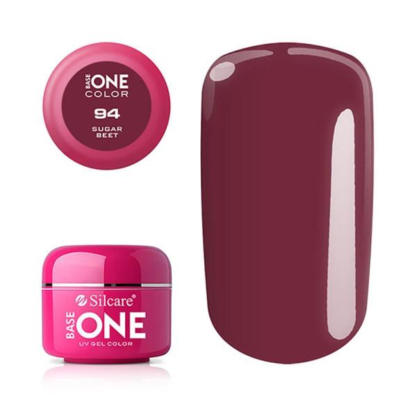 Base one - Color - UV Gel - Sugar Beet - 94 - 5 gram Plommon