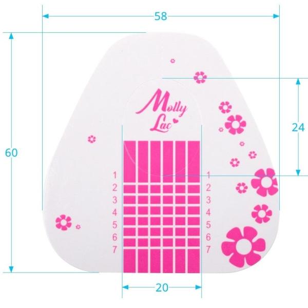 Nagelmallar - Molly Lac - Basic Flower - 500 st Rosa