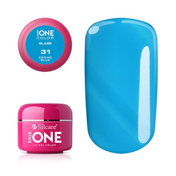 Base one - Color - Glass - UV Gel - Cosmo Blue - 31 - 5 gram Blå